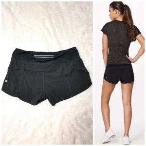 "Lululemon Speed Up Shorts Trail *2.5"" in Black"